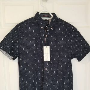 Cactus Man Ricky Singh Shirt NWT Navy Sailor Theme